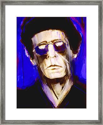 Blue Lou Framed Print by Julio Blanco