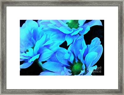 Blue Love Framed Print by Krissy Katsimbras