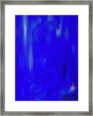 Blue Lust Framed Print