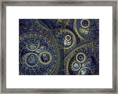 Blue Machine Framed Print by Martin Capek