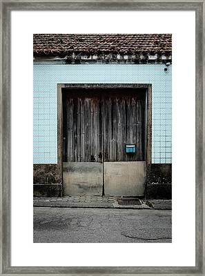 Blue Mailbox Framed Print by Marco Oliveira