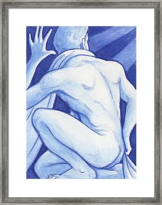 Blue Man Study Framed Print