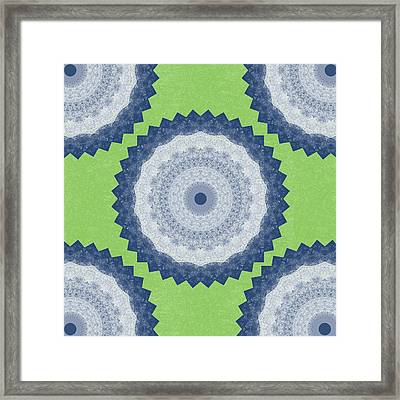 Blue Mandala- Art By Linda Woods Framed Print by Linda Woods