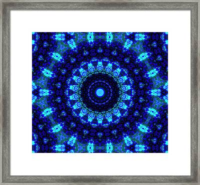 Blue Mandala Framed Print