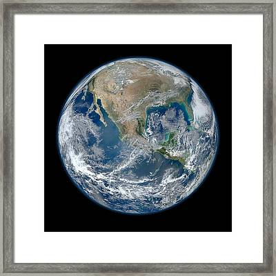 Blue Marble 2012 Planet Earth Framed Print by Nikki Marie Smith