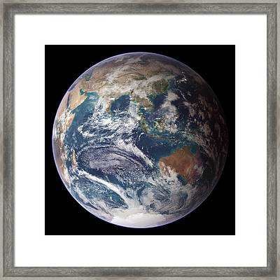 Blue Marble Image Of Earth (2005) Framed Print by Nasa Earth Observatory