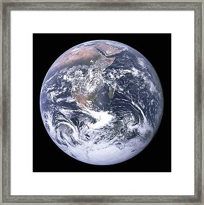 Blue Marble - Image Of The Earth From Apollo 17 Framed Print by Nasa