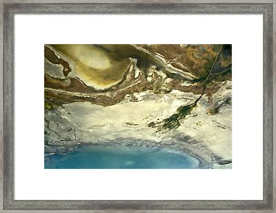 Blue Margarita Framed Print by Lou  Novick