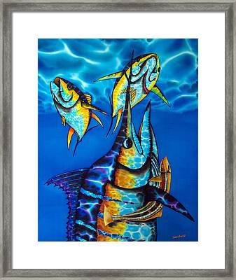 Blue Marlin Framed Print by Daniel Jean-Baptiste