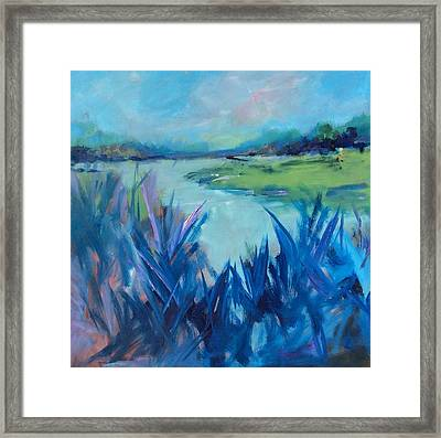 Blue Marsh Framed Print