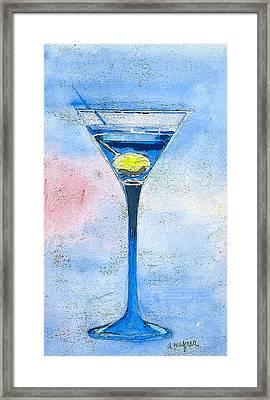 Blue Martini Framed Print by Arline Wagner