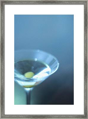 Blue Martini Framed Print by John Gusky