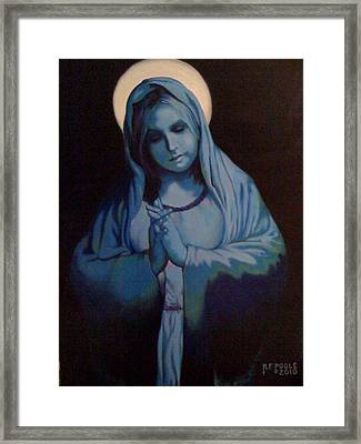 Blue Mary Framed Print by Rebecca Poole