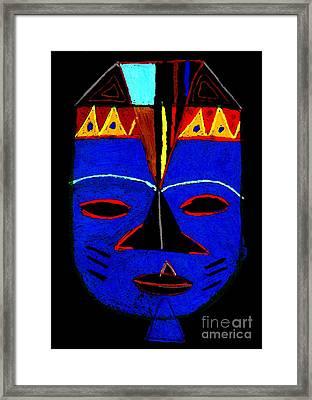 Blue Mask Framed Print by Angela L Walker