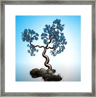 Blue Math  Tree 2 Framed Print