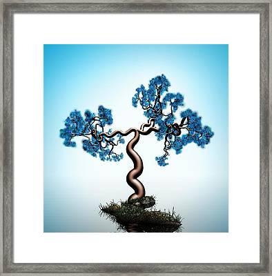 Blue Math  Tree Framed Print