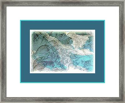 Framed Print featuring the photograph Blue Maze by Athala Carole Bruckner