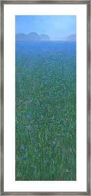 Blue Meadow 2 Framed Print
