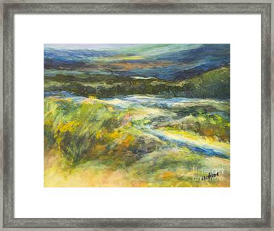 Blue Meadows Framed Print by Glory Wood