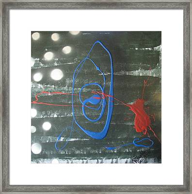 Blue Meets Red Framed Print
