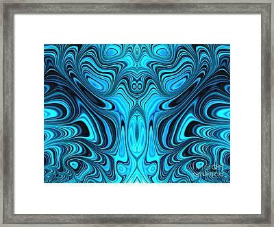 Blue Mekon Framed Print