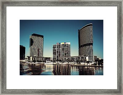 Blue Melbourne Framed Print