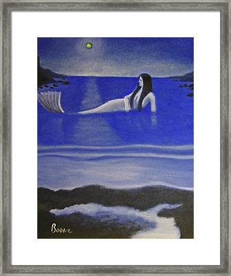 Blue Mermaid Framed Print by Chris Boone