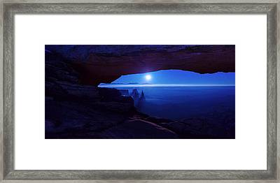 Blue Mesa Arch Framed Print by Chad Dutson