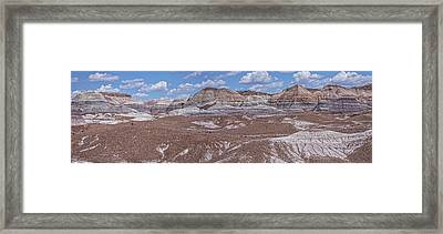 Blue Mesa At The Petrified Forest National Park Framed Print