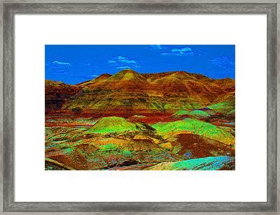 Blue Mesa Dreaming Framed Print