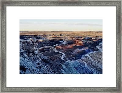 Blue Mesa Painted Desert Landscape Framed Print