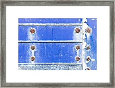 Blue Metal Background  Framed Print by Tom Gowanlock