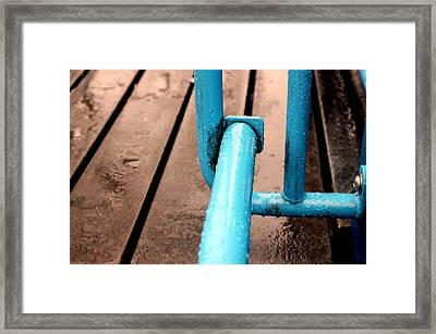 Blue Metalic Framed Print by Mark Ashkenazi