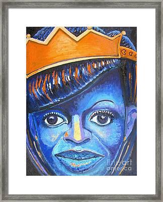 Blue Michelle Framed Print