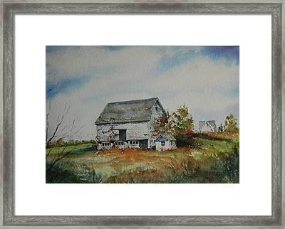 Blue Milkhouse Framed Print by Mike Yazel
