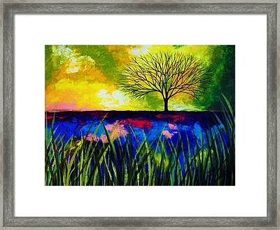 Blue Mirage Framed Print by Peggy Davis