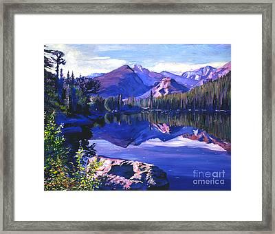 Blue Mirror Lake Framed Print by David Lloyd Glover