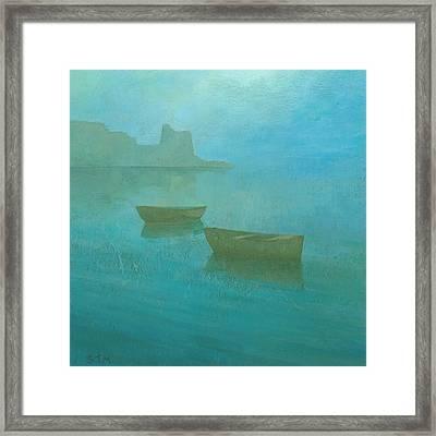 Blue Mist At Erbalunga Framed Print