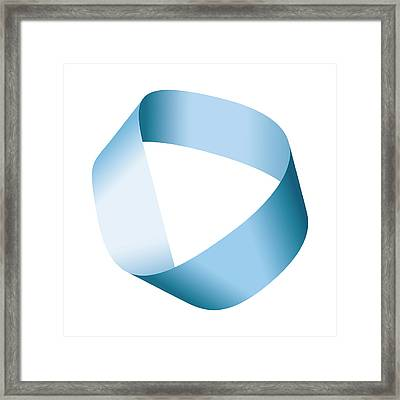 Blue Moebius Strip Or Mobius Band Framed Print