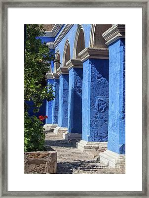 Blue Monastery Framed Print by Patricia Hofmeester