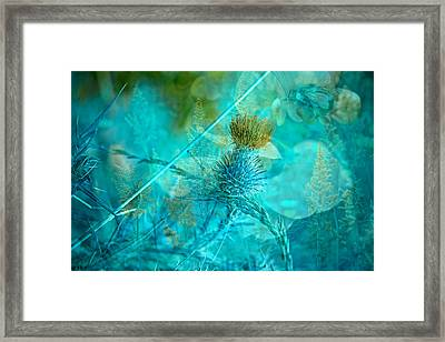 Blue Montage Framed Print by Bonnie Bruno