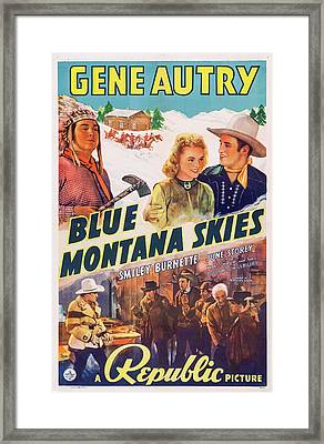 Blue Montana Skies 1939 Framed Print