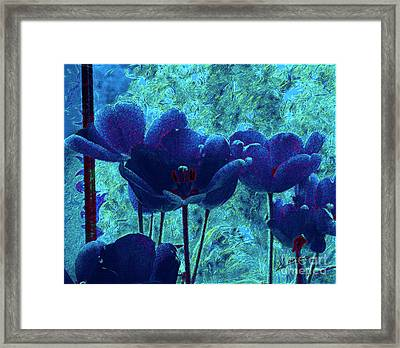 Blue Mood Framed Print
