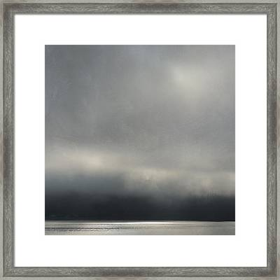 Framed Print featuring the photograph Blue Mood by Sally Banfill