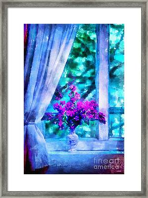 Blue Mood Framed Print by Shirley Stalter