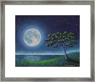 Blue Moon 01 Framed Print