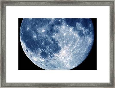 Blue Moon 7-31-15 Framed Print