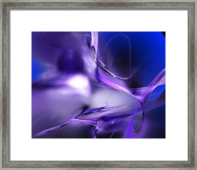 Blue Moon And Wine Spirits Framed Print