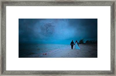 Lunar Dawn Framed Print by Betsy Knapp