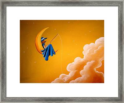 Blue Moon Framed Print by Cindy Thornton